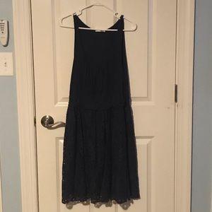 Mai Tai Blue Lace Sleeveless A-Line Dress